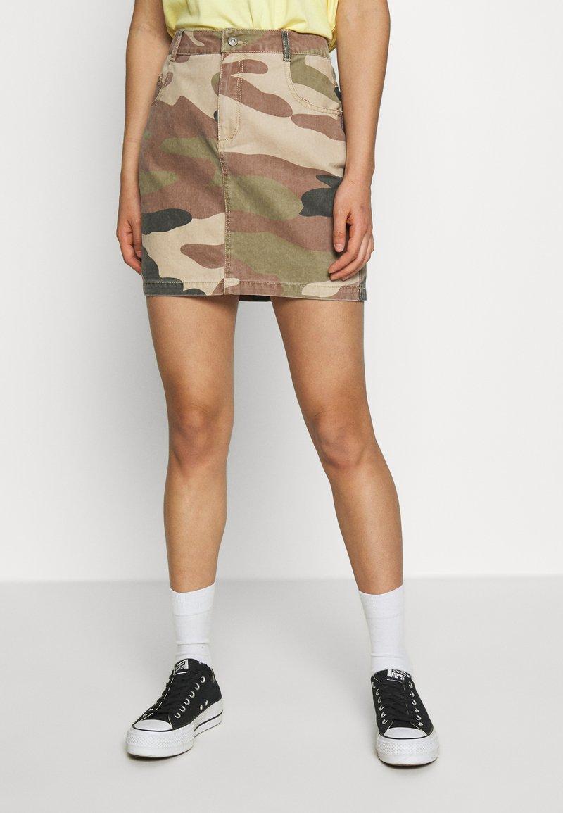 ONLY - ONLFAVOURITE SKIRT  - A-line skirt - kalamata/camo