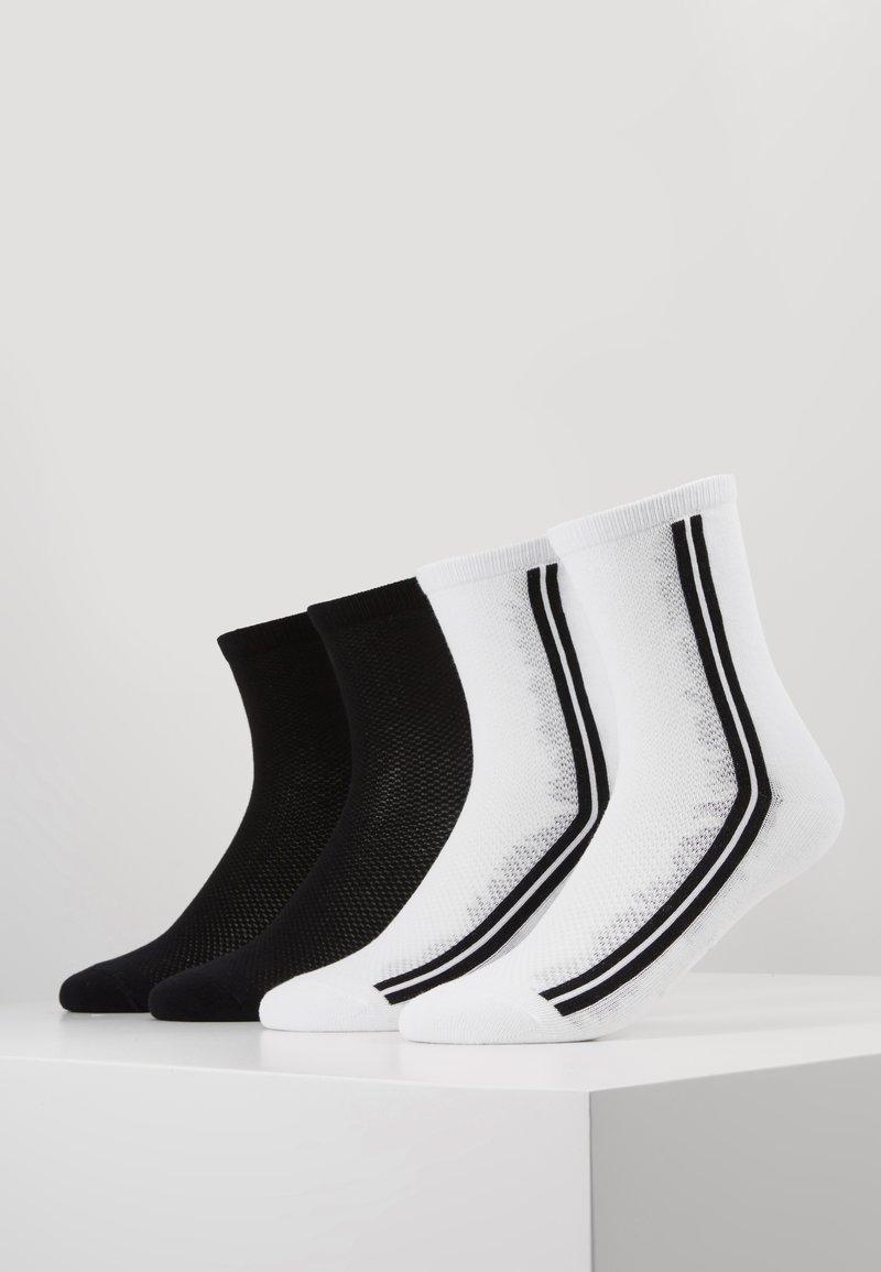 s.Oliver - ONLINE WOMEN FASHION SOCKS 4 PACK - Ponožky - white
