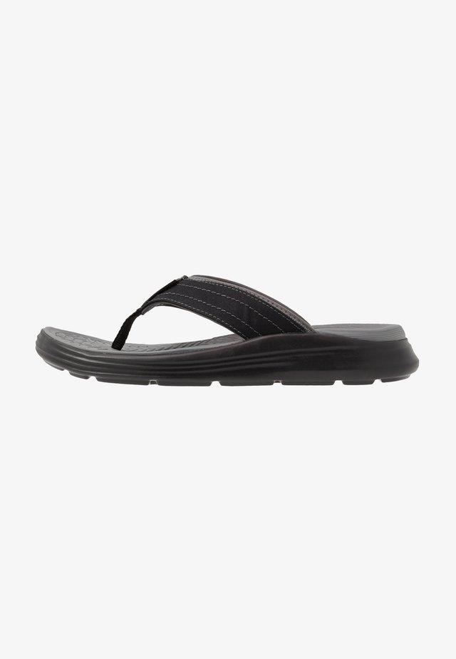 SARGO - Sandály s odděleným palcem - black