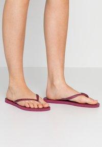 Havaianas - KIDS SLIM - Pool shoes - bordeaux - 0