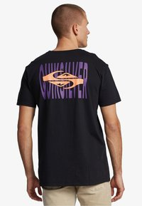 Quiksilver - EITHER WAY  - Print T-shirt - black - 2