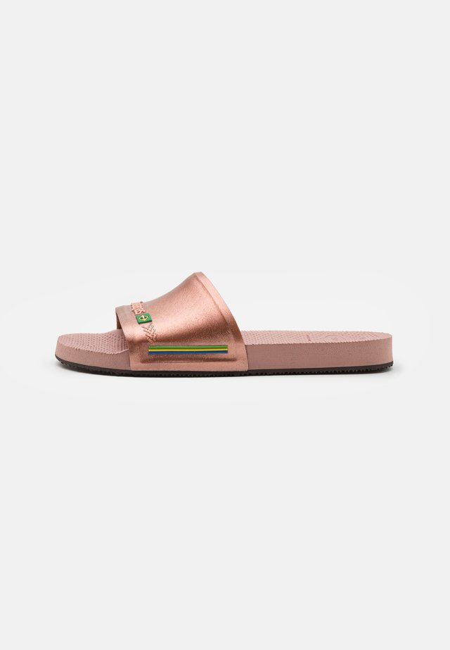 SLIDE BRASIL UNISEX - Chanclas de baño - crocus rose/golden blush