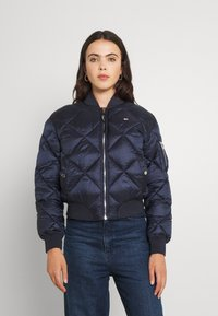 Tommy Jeans - TJW DIAMOND QUILTED BOMBER - Bomber Jacket - twilight navy - 0