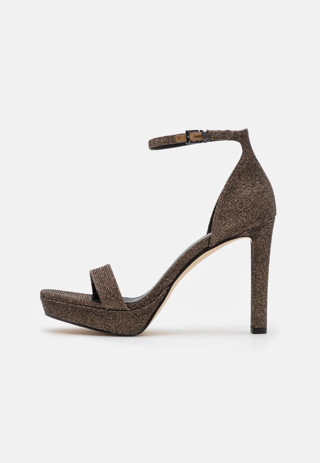 MARGOT PLATFORM - Sandały na obcasie - bronze