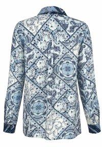 Laura Kent - Button-down blouse - marineblau mintgrün wollweiß - 3