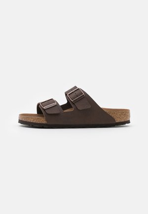 ARIZONA VEGAN FOOTBED - Slippers - saddle matt brown