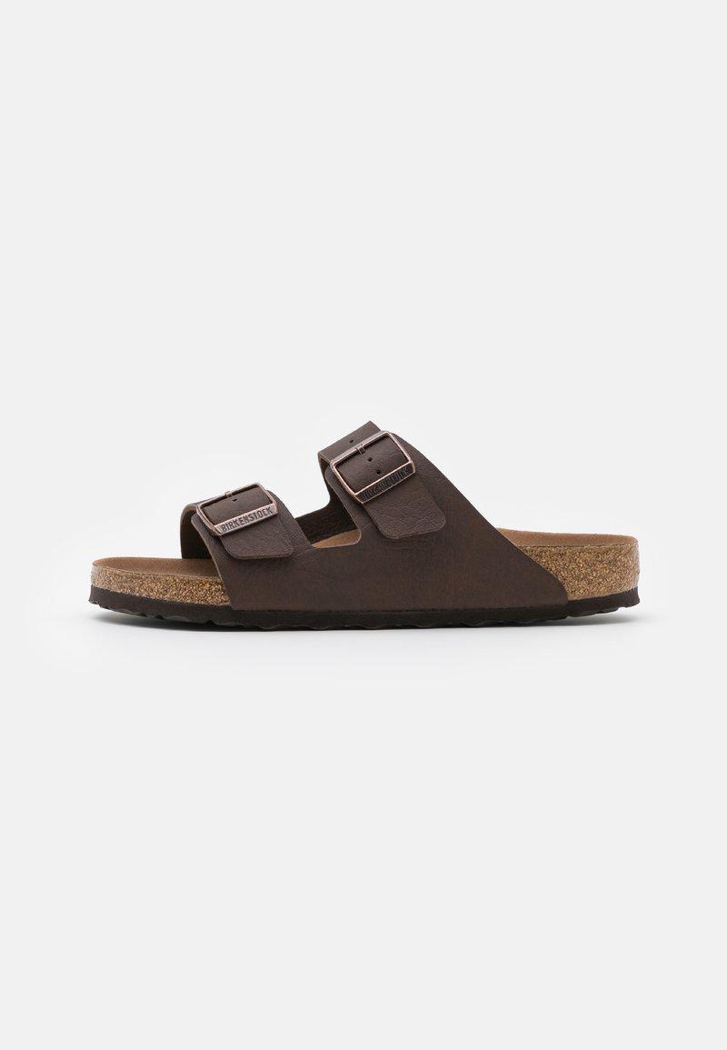 Birkenstock - ARIZONA VEGAN FOOTBED - Slippers - saddle matt brown