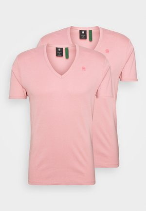 BASE V T 2 PACK - T-shirt - bas - dusty rose