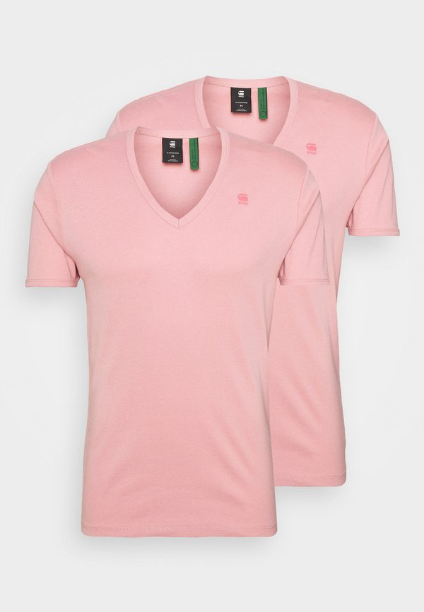 G-Star BASE V T 2 PACK - T-shirt basic - dusty rose/jasnorÓżowy Odzież Męska CKAD