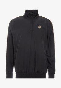 SIKSILK - QUARTER ZIP FUNNEL TAPE OVERHEAD - Summer jacket - black/gold - 3
