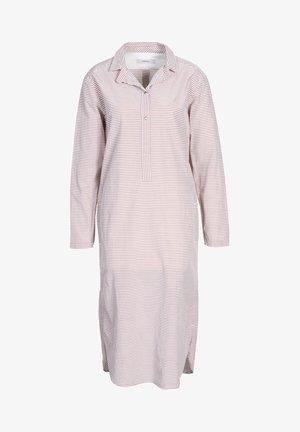 Shirt dress - pecan