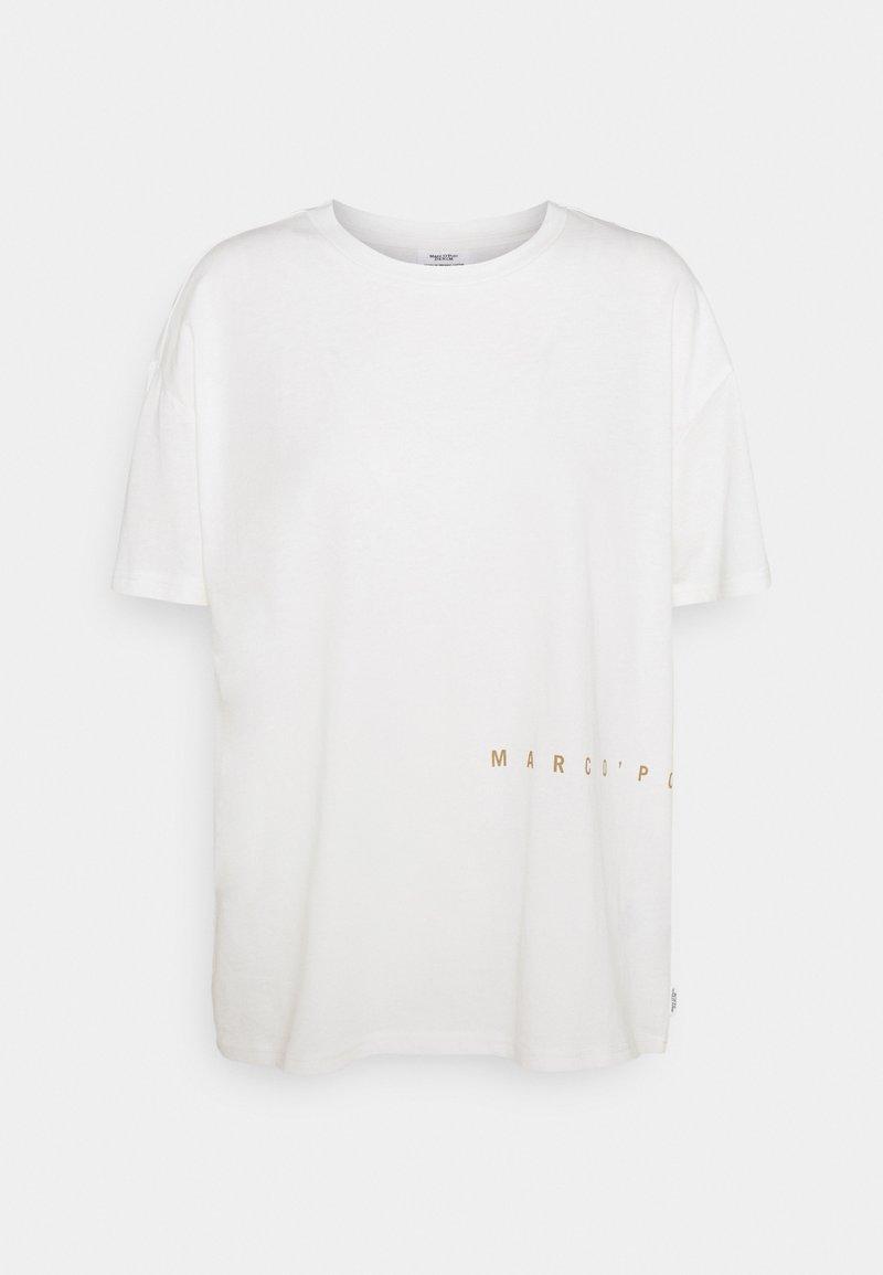 Marc O'Polo DENIM - SHORTSLEEVE ROUNDNECK PRINTS - Print T-shirt - scandinavian white