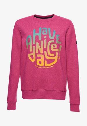 Sweatshirt - hot pink