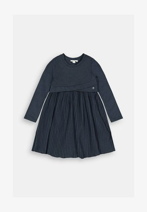 MIT PLISSEE - Jersey dress - navy