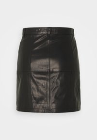 Iro - SKIRT - Kožená sukně - black - 6
