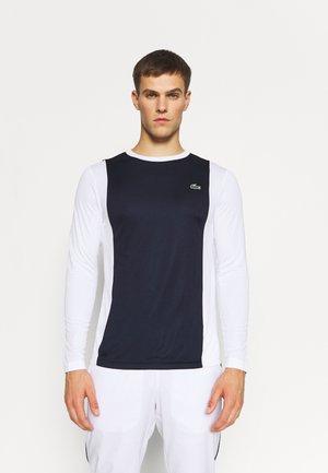 LONGSLEEVE - T-shirt sportiva - navy blue/white