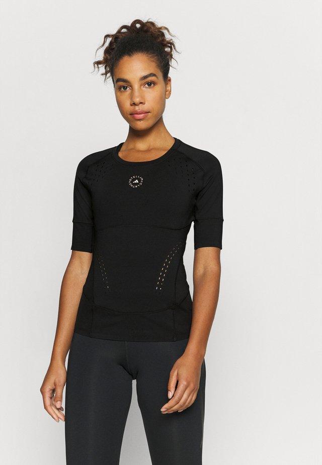 TRUEPUR TEE - Treningsskjorter - black