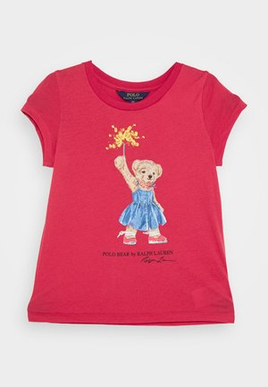 BEAR TEE - Triko s potiskem - nantucket red