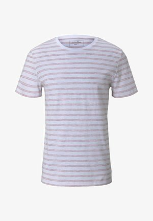MIT STREIFENMUSTER - Print T-shirt - white orange injected stripe