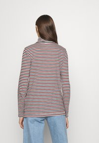 Madewell - WHISPER TURTLENECK IN GRINCH STRIPE - Long sleeved top - midnight green - 2