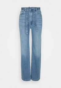 Esprit - MED WIDE LEG - Flared Jeans - blue light wash - 0
