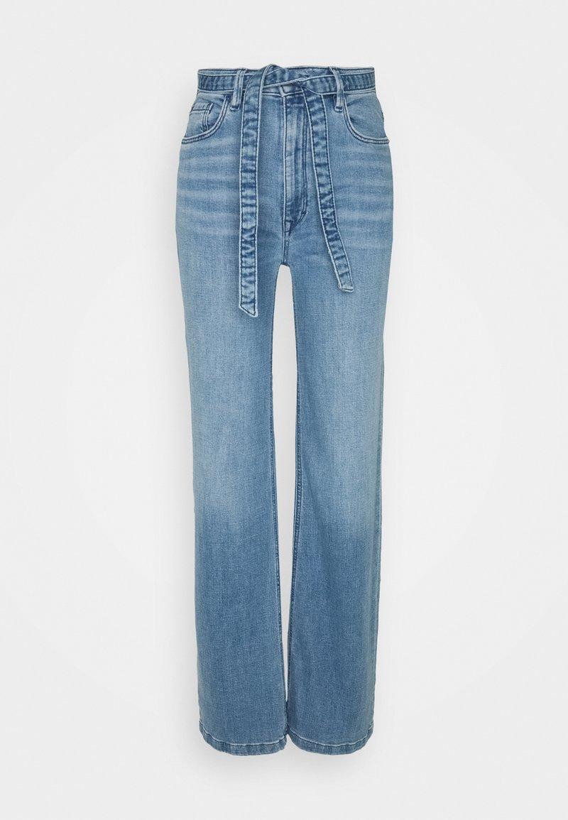 Esprit - MED WIDE LEG - Flared Jeans - blue light wash
