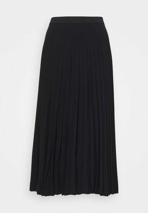 SKIRT - Pleated skirt - black dark