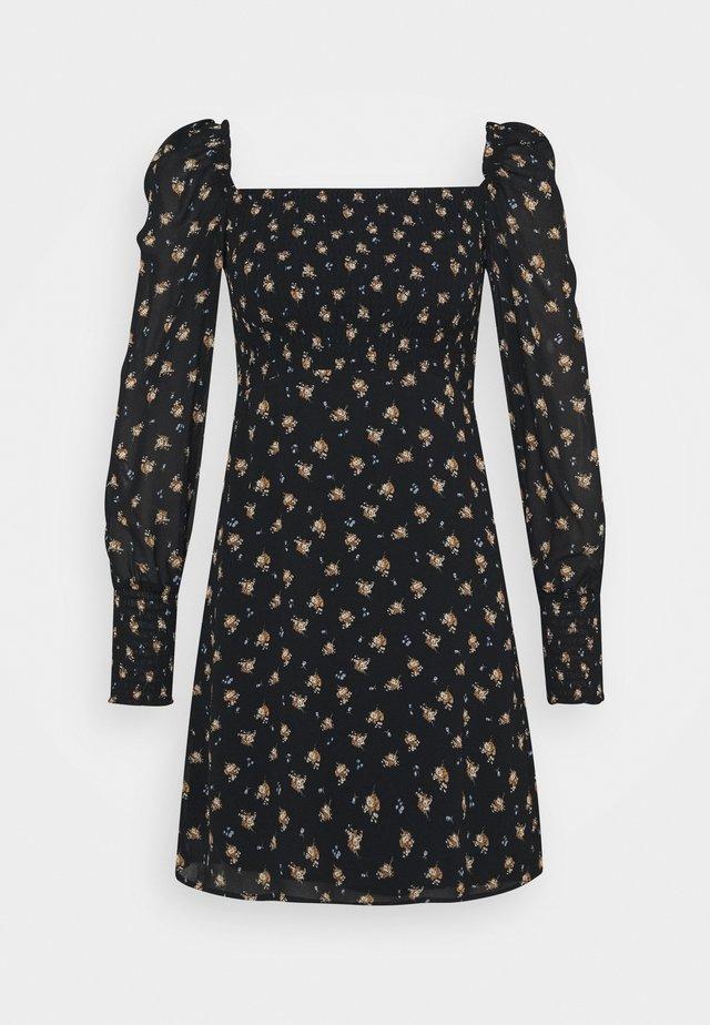 RITHIK - Day dress - noir/camel
