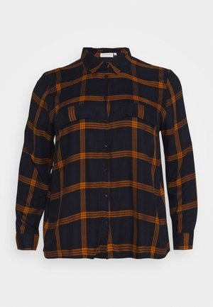 CARJOAN CHECK - Skjorte - night sky/pumpkin spice