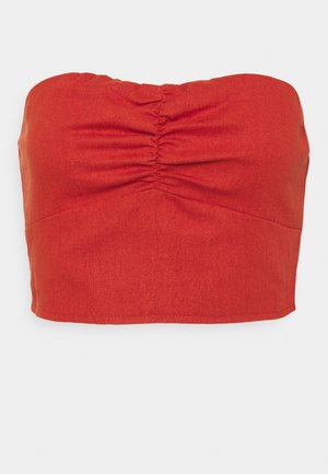 RUCHED BANDEU  - Top - red