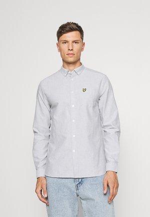 OXFORD - Skjorta - mid grey marl/white