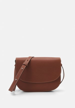 ANNE - Across body bag - maroon brown