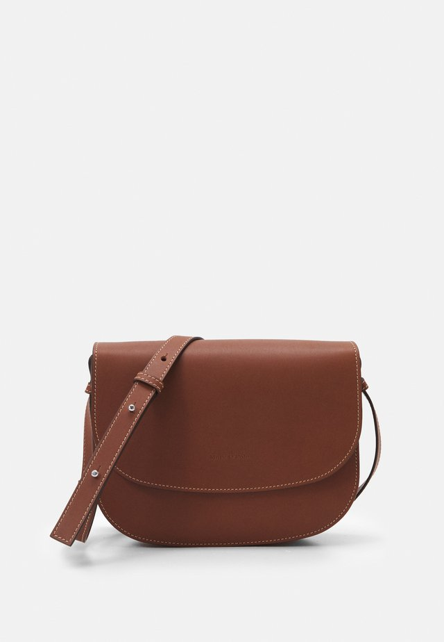 ANNE - Bandolera - maroon brown
