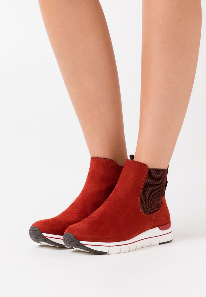LOVE OUR PLANET by MARCO TOZZI - BOOTS - Ankle boots - brick