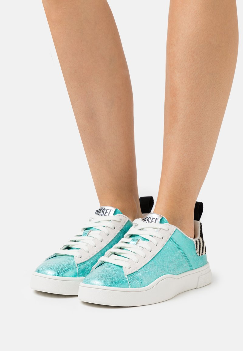 Diesel - S-CLEVER LOW LACE W - Trainers - turquoise