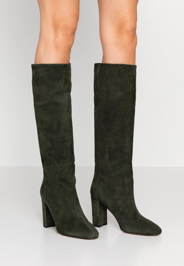 High heeled boots - verde