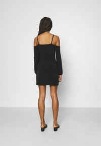 NA-KD - PAMELA REIF OFF SHOULDER MINI DRESS - Jersey dress - black - 2