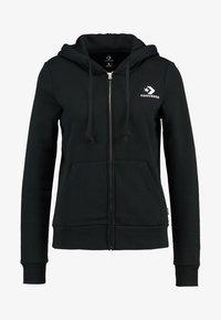 STAR CHEVRON HOODIE - Zip-up hoodie - black
