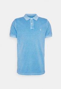 Marc O'Polo - SHORT SLEEVE BUTTON PLACKET COLLAR AND CUFF - Polo shirt - azure blue - 5