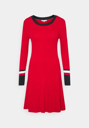 WARM FIT & FLARE DRESS - Jumper dress - primary red