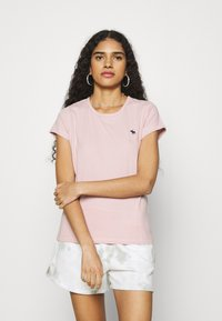 Abercrombie & Fitch - CREW 3 PACK - Jednoduché triko - pink/teal/white - 3