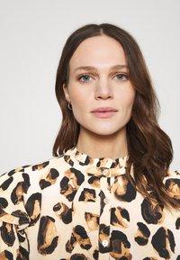 Fabienne Chapot - LEO FRILL BLOUSE - Long sleeved top - beige/black/brown - 3