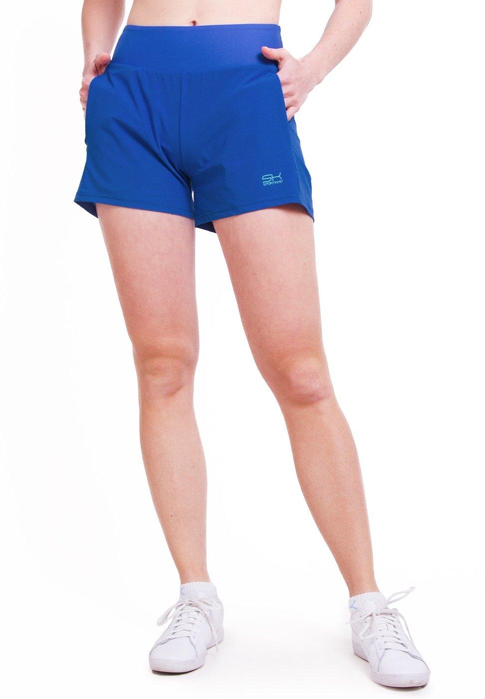 Damen 2-IN-1 SHORTS MIT BALLGÜRTEL - kurze Sporthose