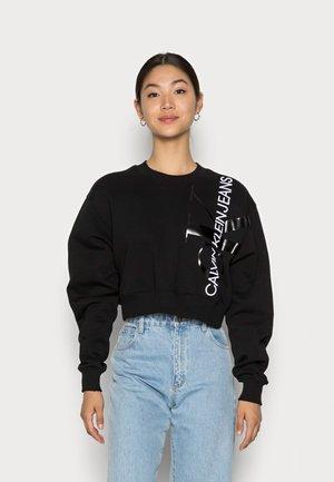 VERTICAL MONOGRAM CREW NECK - Sweatshirt - black