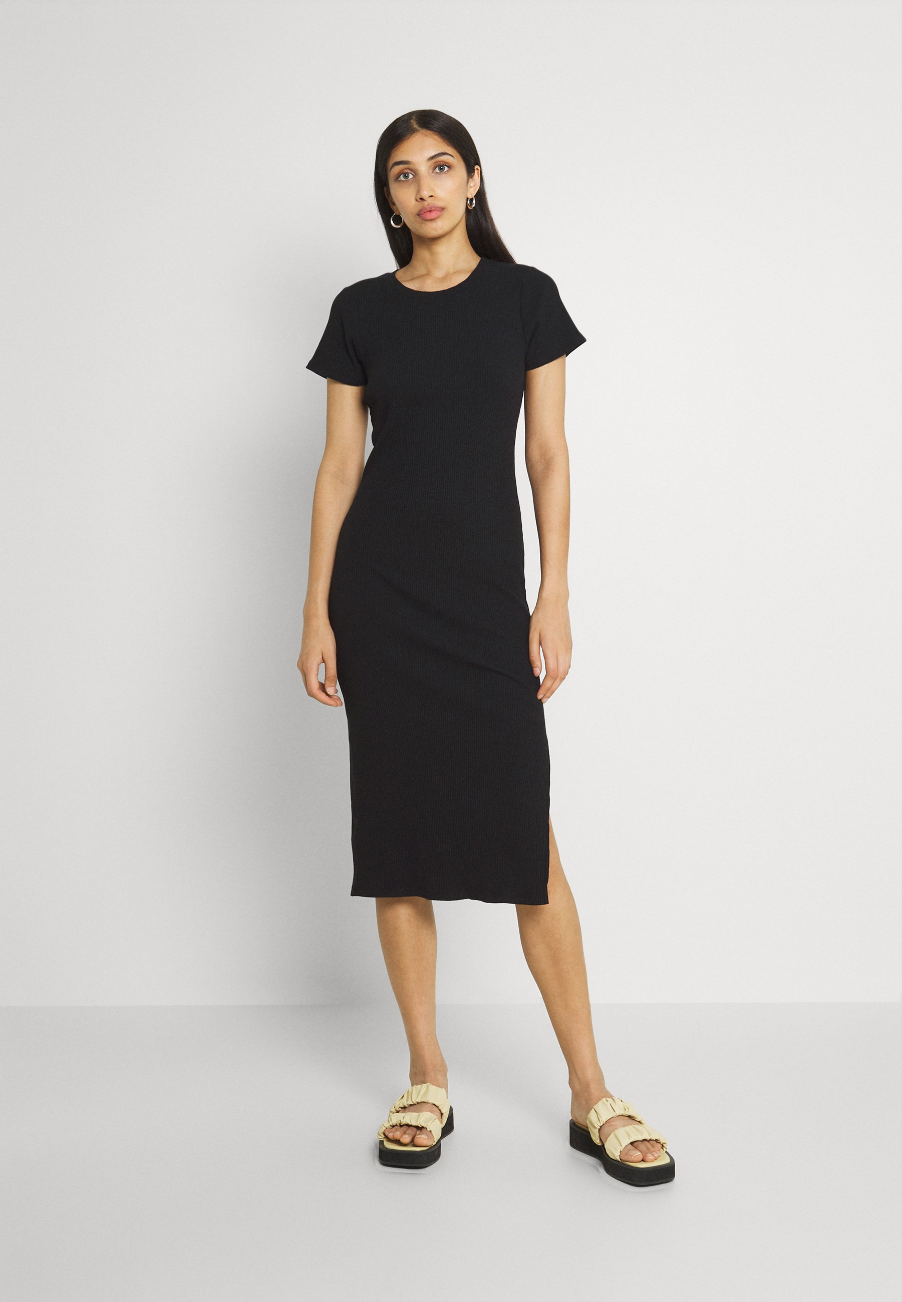 Women ESSENTIAL SPLIT SHORT SLEEVE MIDI DRESS - Day dress