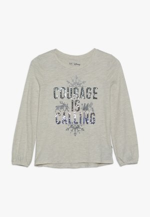 GIRL FROZEN - Long sleeved top - light grey