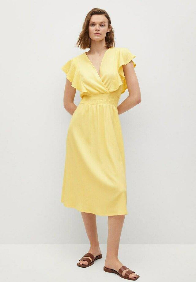Korte jurk - pastellgelb