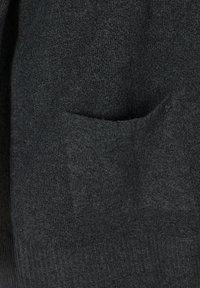 Zizzi - MELIERTER  MIT TASCHEN - Cardigan - dark grey melange - 6