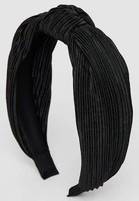 Stradivarius - STARRER PLISSÉE - Hair styling accessory - black - 3