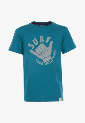 YOUR OWN WAVE - Print T-shirt - petrol